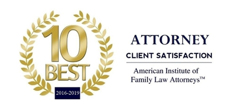 American Institute of Family Law Attorney's 10 Best Attorney Client Satisfaction Award